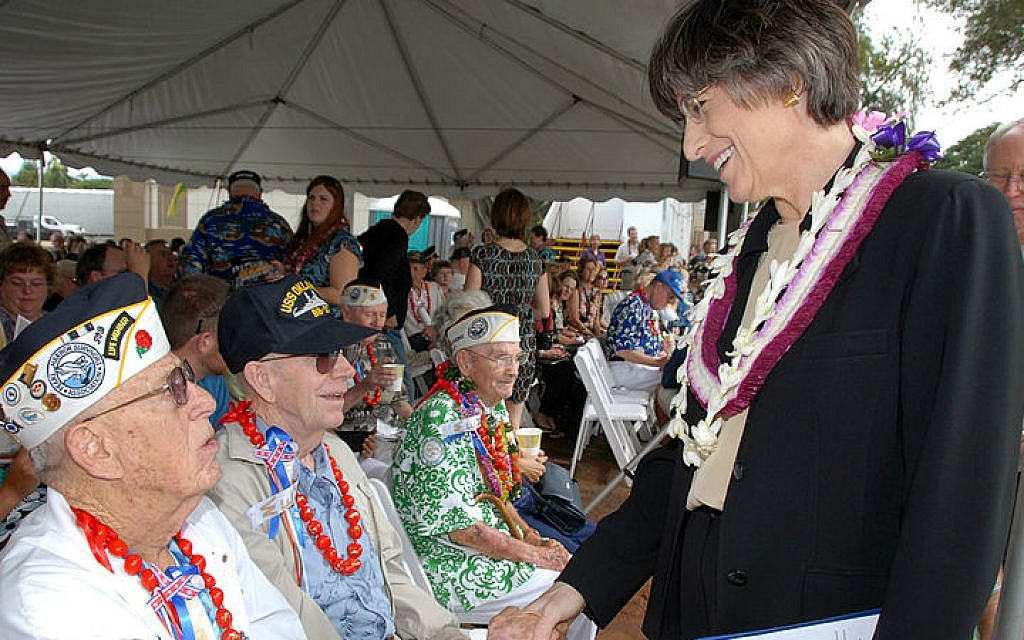 Linda Lingle served two terms as Hawaii's governor from 2002 - 2010, and is Hawaii's most-known Jewish politico. (Wikimedia commons)