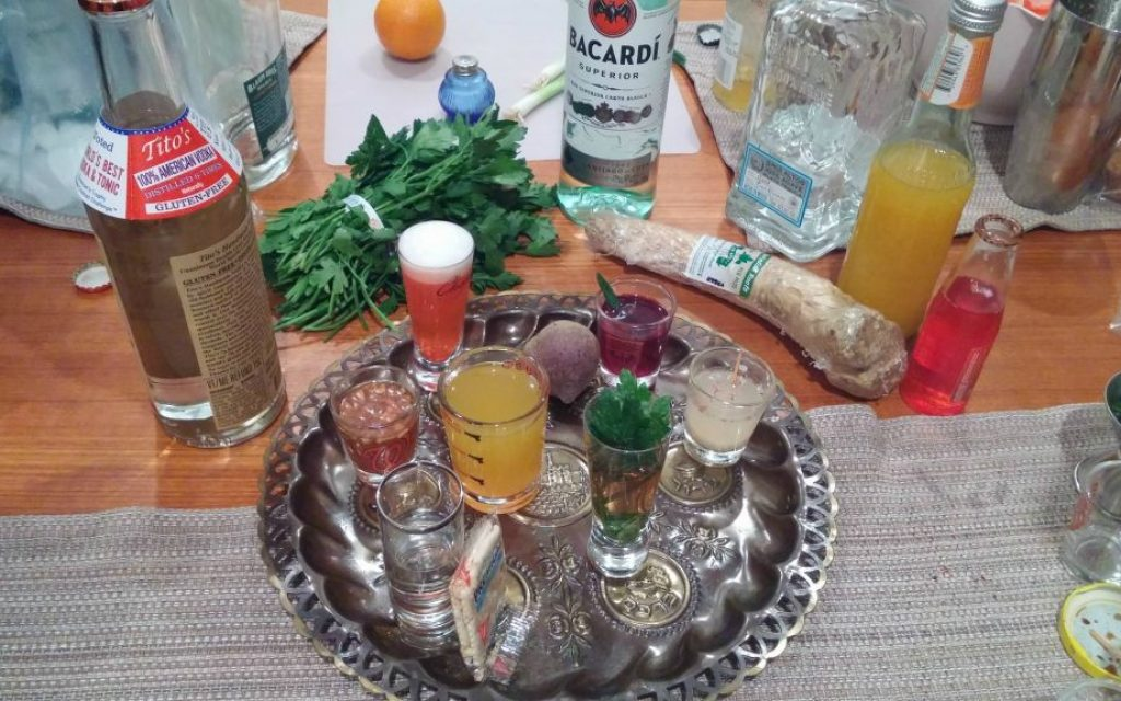 'Liquid Seder Plate' alcoholic drinks from 'Tippling Through The Torah' blog. (Courtesy)