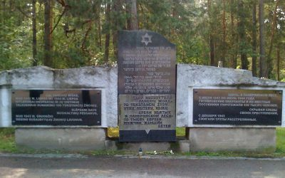 The memorial to the Holocaust victims at Ponar forest in Lithuania (Times of Israel)