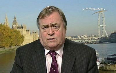 Former UK deputy prime minister John Prescott. (YouTube screen capture)