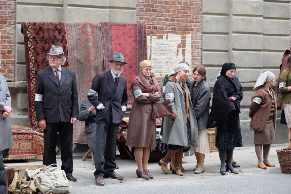 A scene from Who Will Write Our History, a documentary based on the heroes behind the Warsaw ghetto's Oneg Shabbat archive (courtesy)