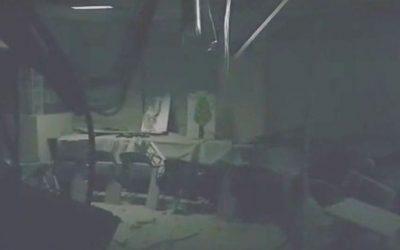 The Sderot preschool hit in a rocket strike from Gaza on July 1, 2016 (screen capture: YouTube)