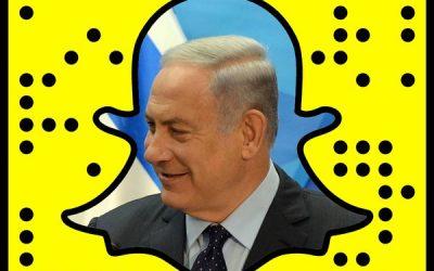 Benjamin Netanyahu's official Snapchat code (Screen capture: Twitter)