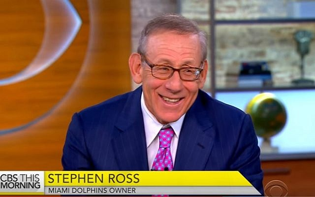 Miami Dolphins owner Stephen Ross (YouTube screenshot)