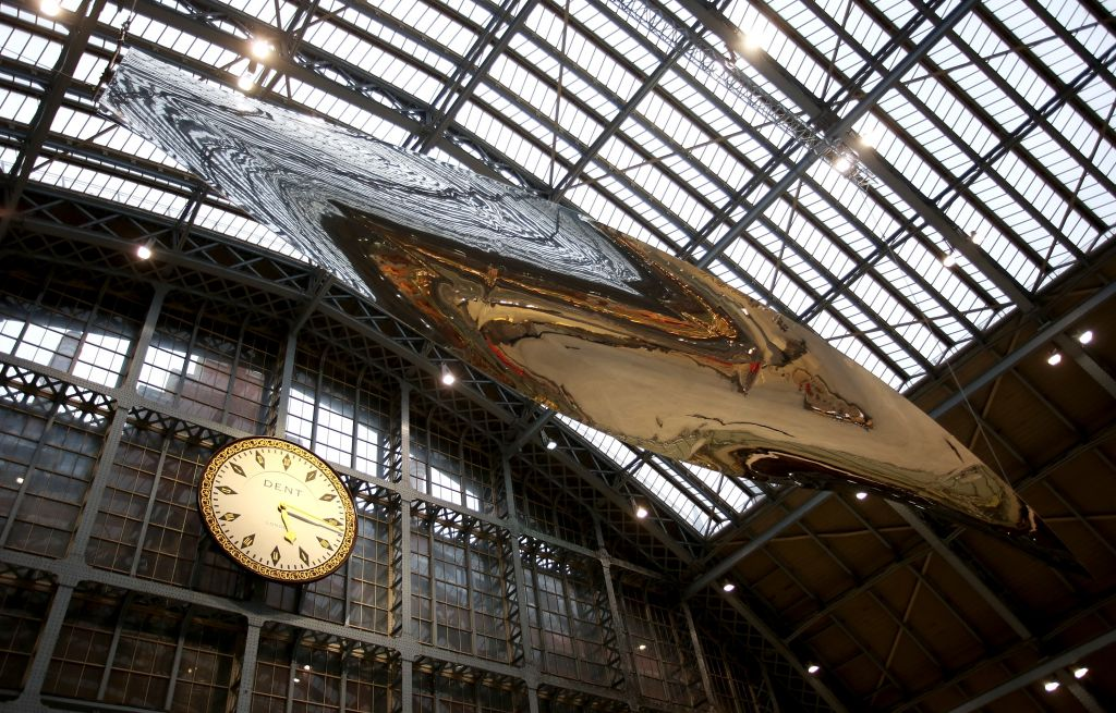 Thought of Train of Thought, by Ron Arad, is suspended in St Pancras station, above the Eurostar platforms. (Courtesy)