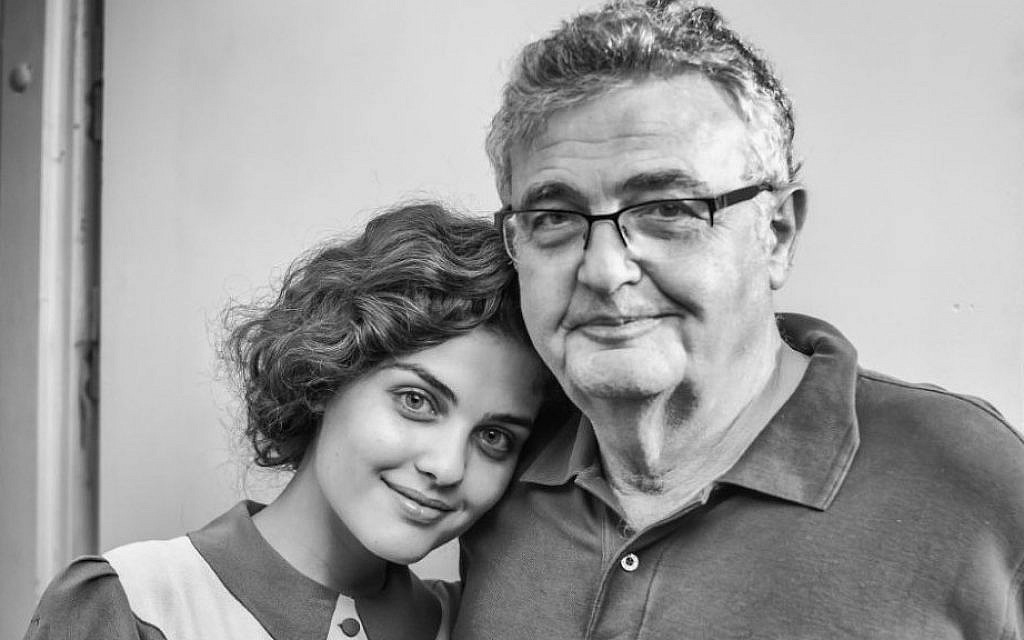 Serena Kassow and her father, Samuel Kassow, on the set of 'Who Will Write Our History?' in Poland, based on Samuel Kassow's book about the 'Oneg Shabbat' archive, May 2016. (Courtesy)