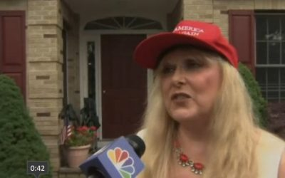 Esther Levy says she was kicked out of a Mexican restaurant over her support for Donald Trump (screen capture: NBC News)