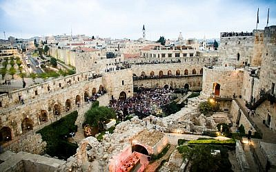 A view of a 2015 Sacred Music Festival event at the Tower of David Museum (Courtesy Noam Shognovsky)