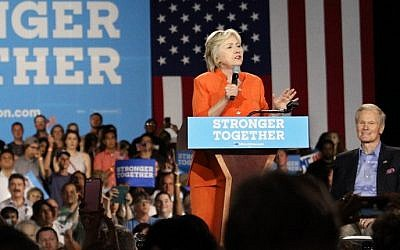 Democratic Presidential nominee Hillary Clinton at a rally in Kissimmee, Florida on August 8, 2016. (AFP PHOTO / Gregg Newton)