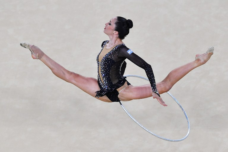 israel s rhythmic gymnast out after qualifiers in rio the times of
