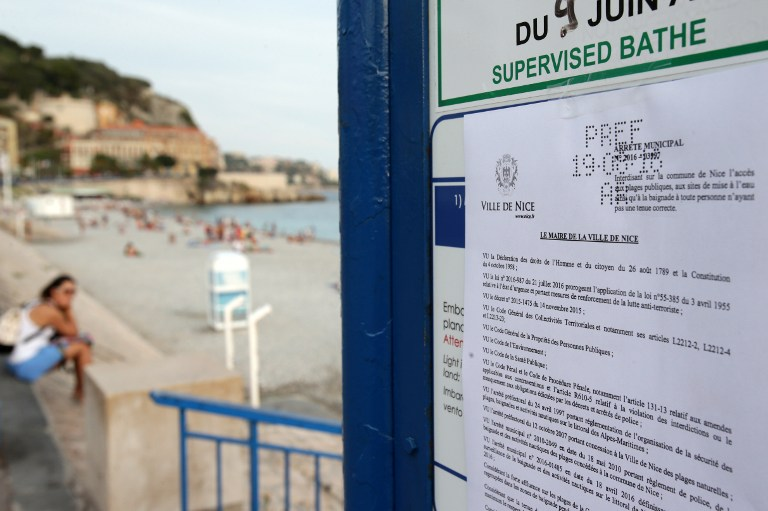 638e5fed33 A bylaw forbidding women to wear a burkini on the beach can be seen in this