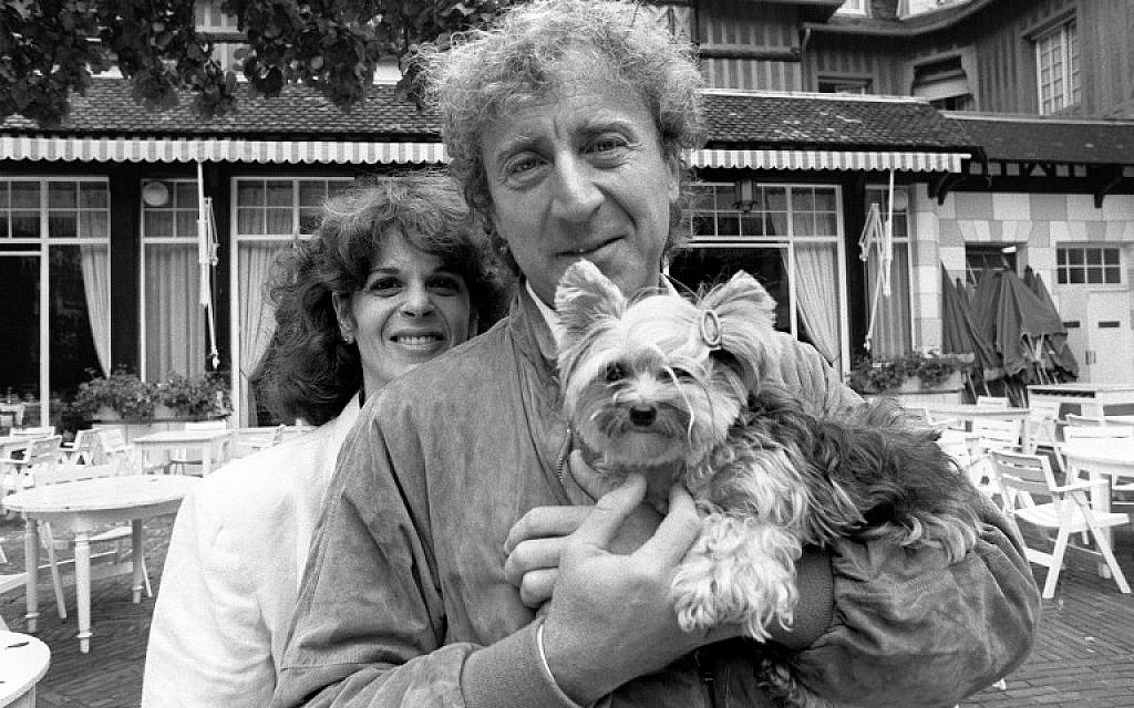 This file photo taken on September 7, 1984 shows US actor and director Gene Wilder with his wife Gilda Radner, during the 10th American Film Festival of Deauville. (AFP PHOTO / Mychele DANIAU)