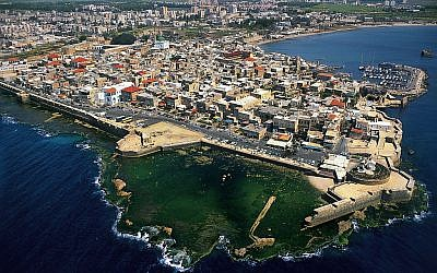 An aerial view of the Acre harbor (Israel Tourism/CC BY-SA 2.0)