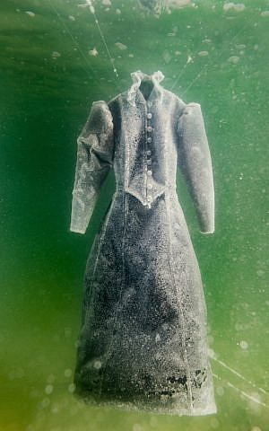 Israeli artist Sigalit Landau's work of art in the Dead Sea. (Courtesy of Marlborough Contemporary)