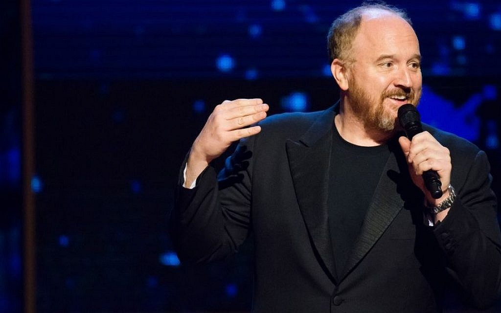 "Louis C.K. appears onstage at Comedy Central's ""Night of Too Many Stars: America Comes Together for Autism Programs"" at the Beacon Theatre on February 28, 2015 in New York. (Charles Sykes/Invision/AP)"