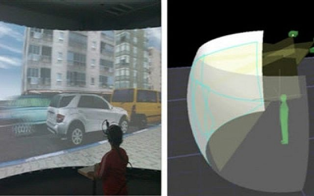 Ben-Gurion University's road safety simulator experiment (Courtesy)