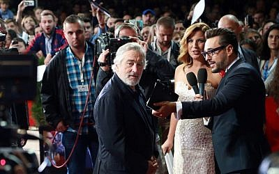 Robert De Niro arrives for the opening of the Sarajevo Film Festival in Sarajevo, Bosnia, August 12, 2016. (AP)