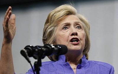 Democratic presidential candidate Hillary Clinton speaks in Scranton, Pennsylvania on August 15, 2016 (AP Photo/Carolyn Kaster)