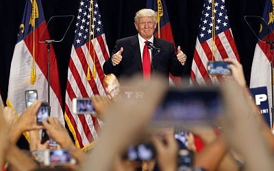 Republican presidential candidate Donald Trump delivers a campaign speech in Charlotte, N.C. Thursday, Aug. 18, 2016. (AP/Gerald Herbert)