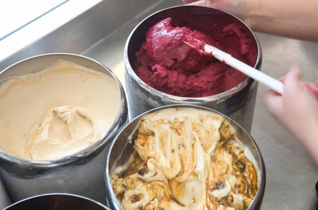 The homemade, Galilean-flavored gelatos of Buza, owned by entrepreneurs Adam Ziv and Alaa Sweetat Courtesy Buza)