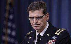 US Central Command chief Gen. Joseph Votel speaks to reporters at the Pentagon, Tuesday, Aug. 30, 2016. (AP Photo/Manuel Balce Ceneta)