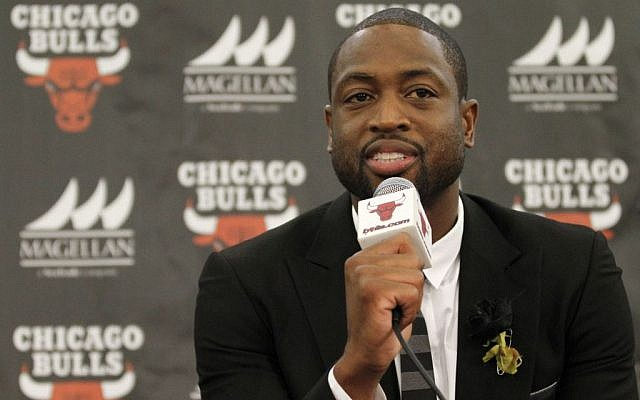 Chicago Bulls player Dwyane Wade speaks during a news conference in Chicago on July 29, 2016.(AP/Tae-Gyun Kim)