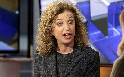 Rep. Debbie Wasserman Schultz, D-Fla., is interviewed in New York on March 21, 2016. (AP/Richard Drew)