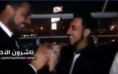 Video purporting to show a wedding between two Egyptian men. (YouTube screen capture)