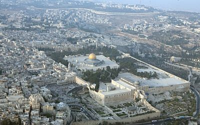 An aerial view of Jerusalem. (Yossi Zamir/Flash 90)
