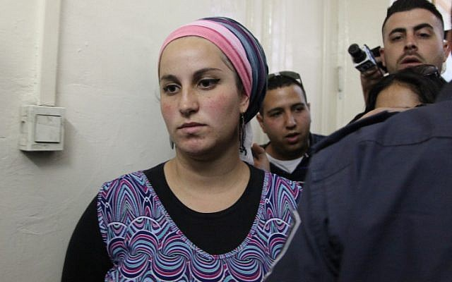 "Eliraz Fine, a 24-year-old Israeli settler from the northern West Bank settlement of Yitzhar, in court for suspected ""inciting violence against soldiers"" on May 7, 2014, at the Jerusalem Magistrates Court. (Meital Cohen/Flash90)"