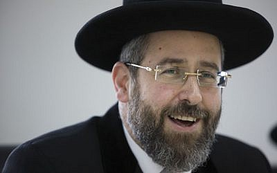 Chief Ashkenazi Rabbi David Lau speaks during a meeting of the Rabbinate Council in Jerusalem on November 03, 2014. (Yonatan Sindel/Flash90)