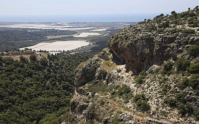 View of Israel's Lower Galilee. April 25, 2015. (Nati Shohat/Flash90)