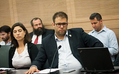 Likud MK Oren Hazan attends a meeting in the Knesset on June 20, 2016. (Miriam Alster/Flash90)