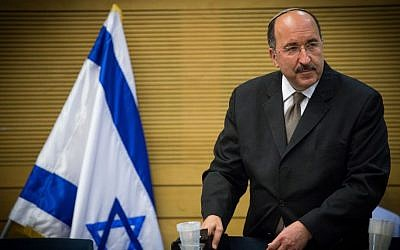 Former director-General of the Foreign Ministry Dore Gold at a Knesset committee meeting in Jerusalem, July 25, 2016. (Yonatan Sindel/Flash90)