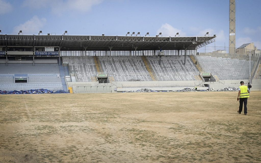 General view of the old Bloomfield soccer stadium in Jaffa on August 8, 2016 (Flash90)