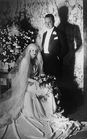 Odette and Robert Fabius on their wedding day, 1929. (Courtesy)