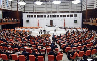The Turkish parliament in June 2015 (Public domain/Wikipedia)