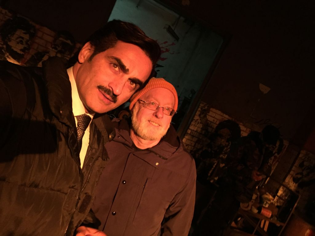 Actor Navid Negahban, best known as Abu Nazir from Homeland, with Kaplan in Morocco (Courtesy)