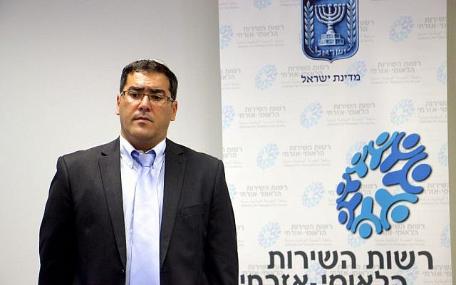 General Director of the National Service program, Sar-Shalom Gerbi. (Dov Lieber / Times of Israel)