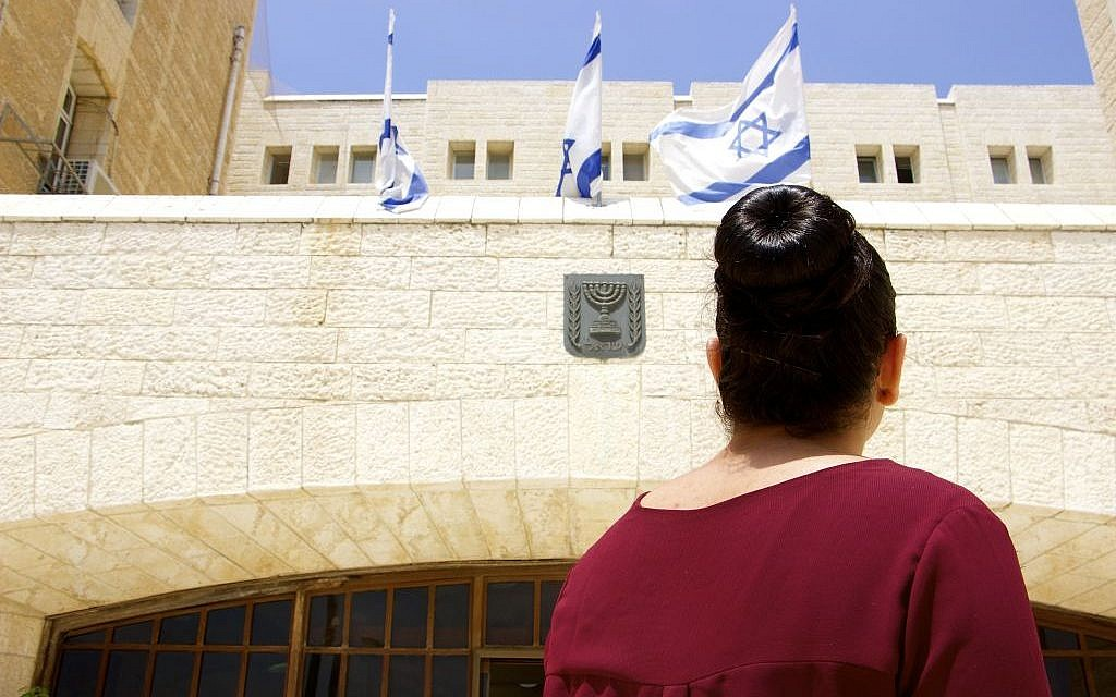 Bara'a Abed, a 20-year-old from East Jerusalem. She is part of a growing trend of Arabs joining Israel's national service. (Dov Lieber / Times of Israel)