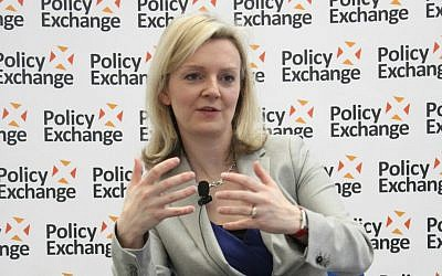 British Justice Minister Elizabeth Truss at the think-tank Policy Exchange in 2013. (Policy Exchange/Wikipedia/CC BY 2.0)