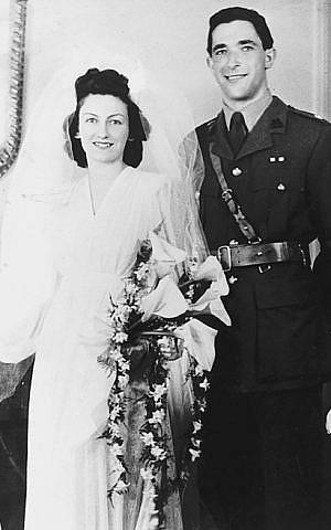 Elisabeth and Robert Maxwell on their wedding day. (Courtesy)