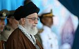 In this Sept. 30, 2015 file photo released by the official website of Khamenei's office, Supreme Leader Ayatollah Ali Khamenei attends a graduation ceremony of Iranian Navy cadets in the northern city of Noshahr, Iran. (Office of the Iranian Supreme Leader via AP)