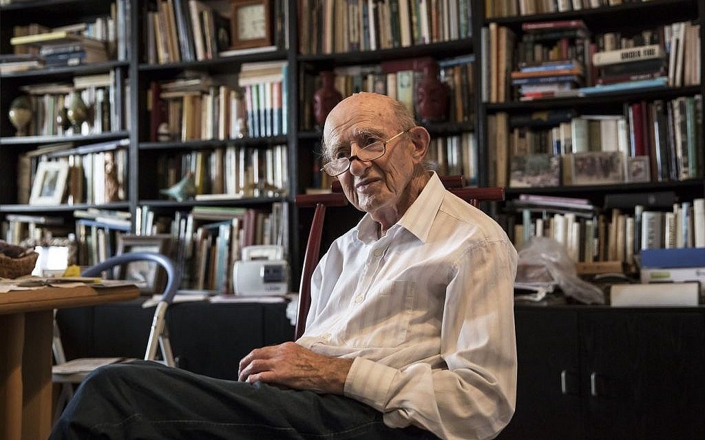 Joseph Harmatz sits in his apartment in Tel Aviv. (AP Photo /Tsafrir Abayov)