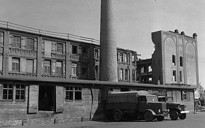 This photo, taken during World War II, shows a bakery in Nuremberg, Germany, which supplied bread to Stalag 13 (US Army Signal Corps via AP)