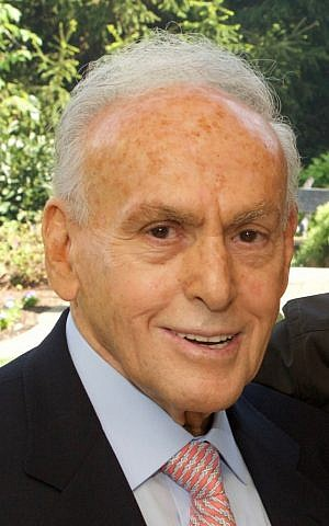 Jewish philanthropist and Holocaust survivor Joseph Wilf, who along with his brother founded of one of America's largest real estate development firms, is shown in this May 21, 2006 photo provided by the NFL's Minnesota Vikings. (Minnesota Vikings via AP)