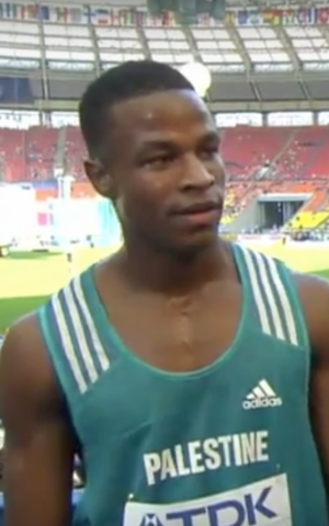 Mohammed Abu Khoussa, 22 years old, will be the first Palestinian runner to compete in the 100-meter event during the 2016 games in Rio. (Courtesy: screenshot YouTube).