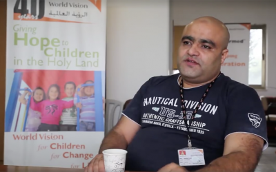 Muhammad el-Halabi, a manager of the World Vision charity's operations in the Gaza Strip, was indicted on August 4, 2016, for diverting the charity's funds to the terrorist organization. (Screen capture: World Vision)