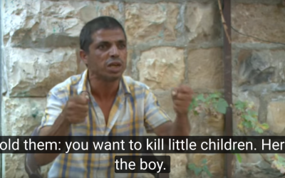 Ayoub Sroor,  accused by Israeli Prime Minister Benjamin Netanyahu of child abuse after telling Israeli soldiers to shoot his young child, responded in a August 4th, 2016 video testimony. (Courtesy: YouTube screenshot)