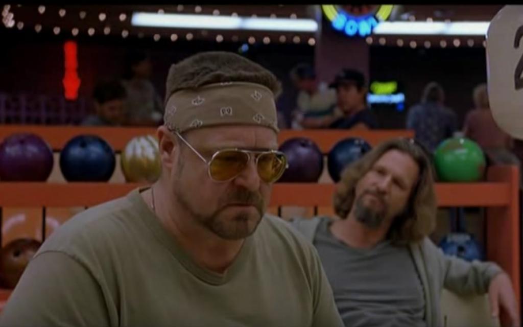 John Goodman plays Walter Sobchak in the 1998 Coen brothers film 'The Big Lebowski.' (screen capture: YouTube)
